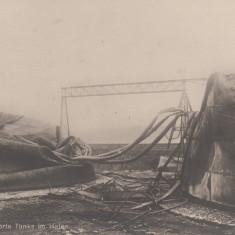 CONSTANTA, TANCURI DISTRUSE IN PORT - Carte Postala Dobrogea 1904-1918, Necirculata, Printata