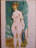 Miklossy Gabor (1912 - 1998) - Nud / Tehnica mixta, Acrilic, Altul