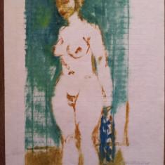 Miklossy Gabor (1912 - 1998) - Nud / Tehnica mixta