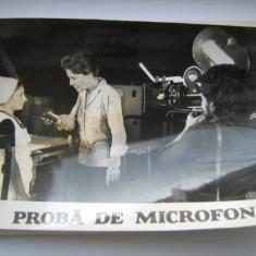 Fotografie originala, film romanesc, Proba de microfon, 16,5/12, Necirculata