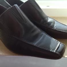 Pantofi piele naturala Tamaris marime 41 - Pantof dama Tamaris, Culoare: Negru, Cu talpa joasa