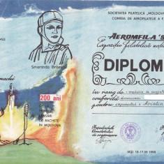 Bnk fil Aeromfila 1990 Iasi - diploma - plic ocazional - cp stampila ocazionala
