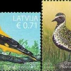 LETONIA 2015, Fauna - Pasari,  serie neuzată, MNH, Nestampilat