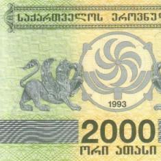 Georgia 2.000 Lari 1993 - P-44 UNC !!! - bancnota asia