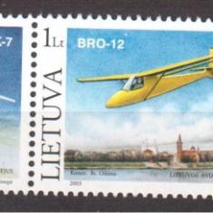 LITUANIA 2003, Aviatie, MNH, serie neuzata, - Timbre straine, Nestampilat
