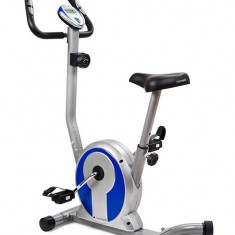 Bicicleta magnetica SMART- argintiu/albastru - Bicicleta fitness SPORTMANN