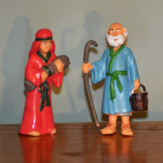 Lot 2 figurine barbat si femeie, personaje biblice, Iosif si Maria, 7.5cm