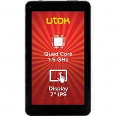 Tableta Utok 710Q HD 7 inch Allwinner A33 1.5 GHz Quad Core 1GB RAM 8GB flash WiFi Android 5.1 Black