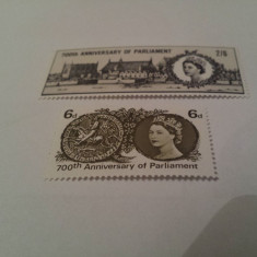 Anglia 1966 parlament / serie mnh - Timbre straine, Nestampilat