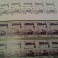 St.vincent - bequia / locomotive / 2 blocuri nedantelate mnh - Timbre straine, Nestampilat