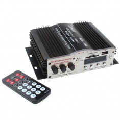 AMPLIFICATOR AUDIO CU TELECOMANDA, RADIO, CARD SI STICK USB 20 w, 0-40W