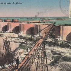 CONSTANTA-RESERVOARELE DE PETROL, TCV, CIRCULATA, 1914 - Carte Postala Dobrogea 1904-1918, Printata