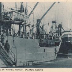 INCARCARI IN TIMPUL IERNEI-PORTUL SULINA - Carte Postala Dobrogea pana la 1904, Necirculata, Printata