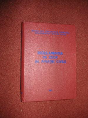 REGULAMENTUL DE ZBOR AL AVIATIEI CIVILE - 1983 foto
