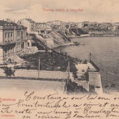 SALUTARI DIN CONSTANTA, PARTEA ESTICA A ORASULUI, CLASICA, CIRCULATA IAN. 1904 - Carte Postala Dobrogea pana la 1904, Printata