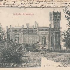 BUCURESTI. BUCURESCI. INSTITUTUL METEOROLOGIC. CLASICA, CIRCULATA DEC. 1901 - Carte Postala Muntenia pana la 1904, Printata