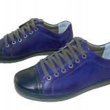 Pantofi barbati sport piele naturala Gitanos-528 bl, Marime: 39, 40, 41, 42, 43, 44, Culoare: Albastru, Albastru
