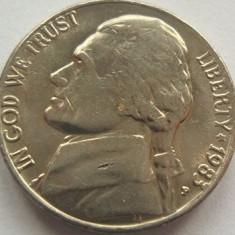 Moneda 5 Centi - SUA, anul 1983 *cod 1491 a.UNC, America de Nord
