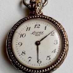 Aurex Paris, Ceas mecanic 17 jewels pentru buzunar sau pandantiv - Ceas de buzunar vechi