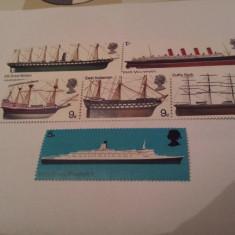 Anglia 1969 vapoare / serie mnh - Timbre straine, Nestampilat