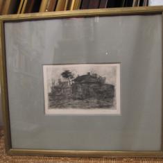 GHEORGHE NAUM- PEISAJ ( GRAVURA) - Pictor roman, Peisaje, Cerneala, Altul