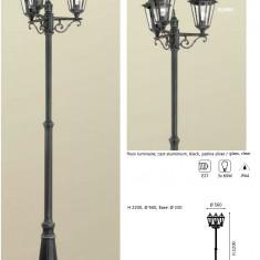 Stalp iluminat exterior negru pentru gradina - Corp de iluminat ZDM, Stalpi si felinare