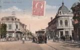 BUCURESTI.CALEA GRIVITEI TRAMVAI CU CAI- MOSILOR , TRASURA , MULTIME , CIR. 1920