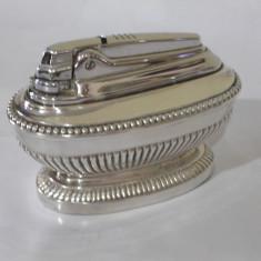 De colectie ! Superba bricheta veche argintata, de masa, RONSON ! - Bricheta de colectie