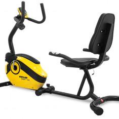 Bicicleta magnetica recumbent Scud Swift H4-galbena - Bicicleta fitness SPORTMANN