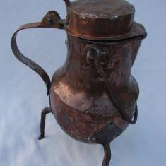 Impresionant ceainic din cupru lucrat manual - Metal/Fonta, Ornamentale