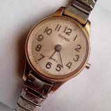 Sekonda 17 jewels, ceas de dama placat cu aur