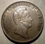 G.248 GERMANIA BADEN LEOPOLD I KRONEN THALER TALER 1831 XF ARGINT 29,5g, Europa