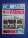 Program fotbal F. C. Inter - Steaua 10 mai 1989 /  R3P1S