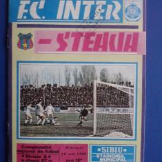 Program fotbal F. C. Inter - Steaua 10 mai 1989 / R3P1S - Revista barbati