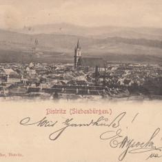 BISTRITA VEDERE GENERALA CLASICA CIRCULATA 1900 EDITURA M. BINDER BISTRITA - Carte Postala Transilvania pana la 1904, Printata