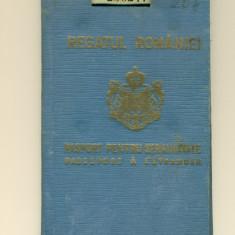 PASAPORT PENTRU STRAINATATE-REGATUL ROMANIEI- CAROL II - Pasaport/Document, Romania 1900 - 1950