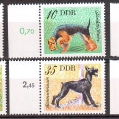 DDR 1976,  Fauna - Caini, serie neuzata, MNH
