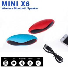BOXA Portabila BLEUTOOTH Mini X6. Telefon, Mp3, Radio. Acumulator inclus., Conectivitate wireless: 1, Conectivitate bluetooth: 1