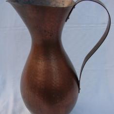Vas mare din cupru cu inaltimea de 43 cm - Metal/Fonta, Vase