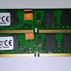 4 GB DDr2 800 Kingston Dual channel 2*2GB 800Mhz KVR800D2N6/2G Noi - Memorie RAM