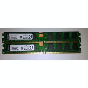 4 GB DDr2 800 Kingston Dual channel 2*2GB 800Mhz KVR800D2N6/2G Noi