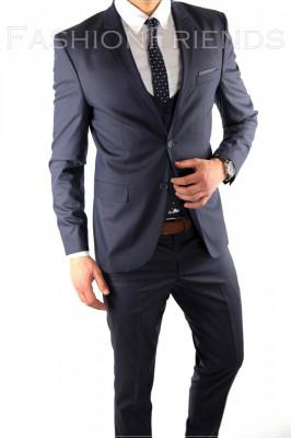 Costum tip ZARA - sacou + pantaloni - vesta costum barbati casual office  - 6066 foto