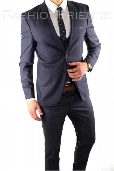 Costum tip ZARA - sacou + pantaloni - vesta costum barbati casual office  - 6066 foto mare