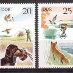 DDR 1977,  Fauna - Vanatoare, serie neuzata, MNH, Nestampilat