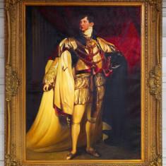 REGELE GEORGE AL IV-lea  - ULEI PE PANZA CU RAMA DEOSEBITA
