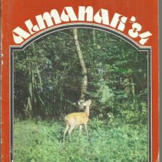 ALMANAH 1984, VANATORUL SI PESCARUL SPORTIV - Carte traditii populare