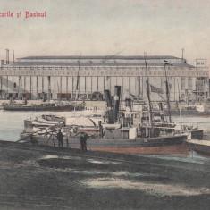 BRAILA, DOCURILE SI BASINUL, CIRCULATA - Carte Postala Muntenia 1904-1918, Printata