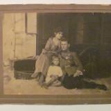GE - Fotografie foto veche familie ofiter roman decorat - Fotografie veche