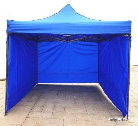 Foisor  pavilion pliabil cort  3x3 m nou  structura metal  foisor solid