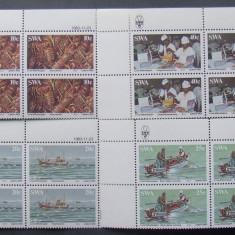 S.W.AFRICA 1983 - PESCUIT, 4 VALORI IN BLOC NEOBLITERATE - AS 181